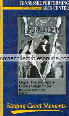 Oops!  The Big Apple Circus Stage Show - Tennessee Performing Arts Center